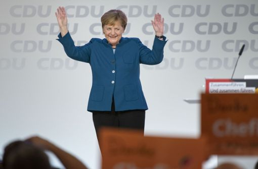Zuvor hatte sie noch eine Abschiedsrede gehalten, für die sie minutenlang gefeiert worden ist. Foto: Getty Images Europe