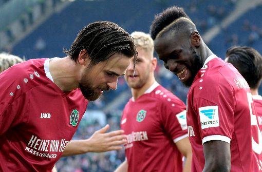 Mit 57 Punkten rangiert Hannover 96 auf dem 3. Platz. Foto: dpa