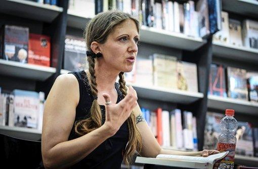 Angela Mohr:  zu Gast beim StN-Stadtschreibtisch Foto: Leif Piechowski
