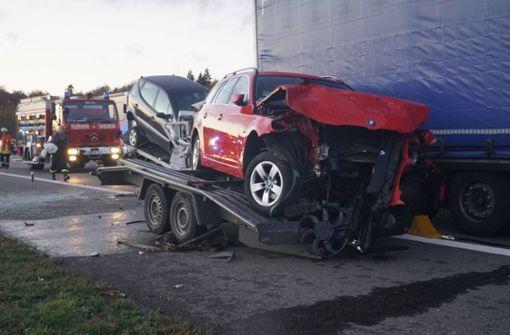 Ein Toter bei Auffahrunfall auf der A6