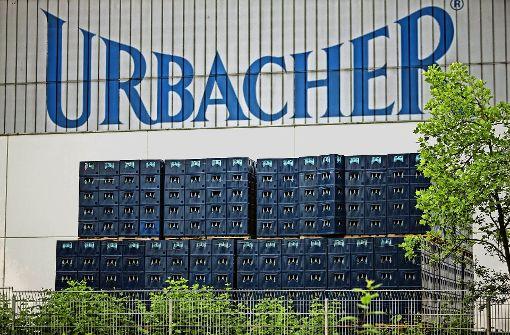 """Die Flaschen mit dem Logo """"Urbacher"""" werden in den kommenden Wochen aus dem Handel verschwinden. Foto: Stoppel/Archiv"""