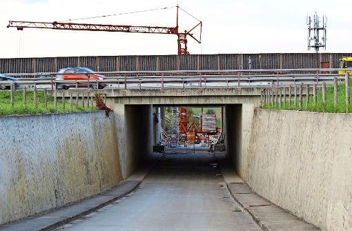 Tunnel bei der Autobahn ist   noch  monatelang gesperrt