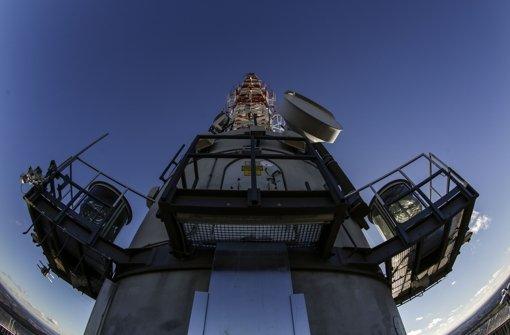 Blick auf die Antennenanlage. Foto: Lichtgut/Leif Piechowski