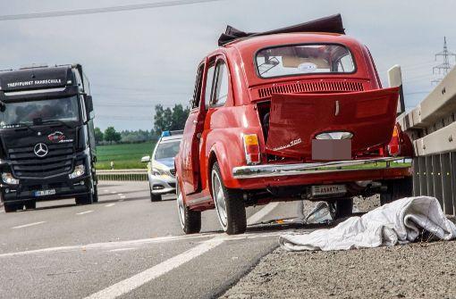 Der Fahrer war auf einen vorausfahrenden Wagen aufgefahren. Foto: SDMG