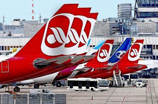 Viele Flugzeuge von Air Berlin blieben die vergangenen zwei Tage auf dem Boden. Foto: dpa