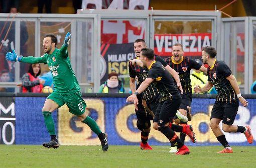 Benevento holt ersten Punkt dank Torwartor gegen den AC Mailand