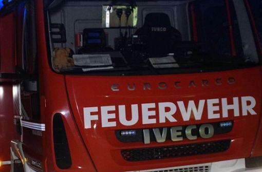 Rötliche Spur fordert Hilfskräfte in Neckarwestheim heraus