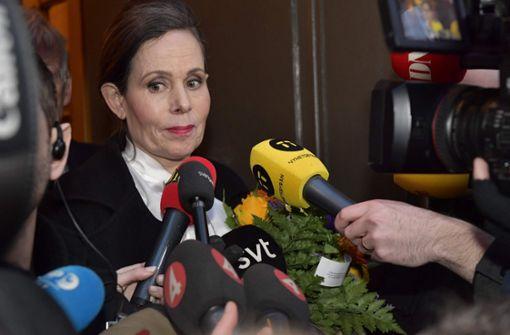 Sara Danius, die Ständige Sekretärin der Schwedischen Akademie, nach ihrem Rücktritt. Foto: AFP