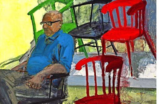"""In der Galerie Thomas Fuchs: Tirtzah Bassels """"Ikea / Chairs"""" von 2014 Foto: Damon Bundschuh"""