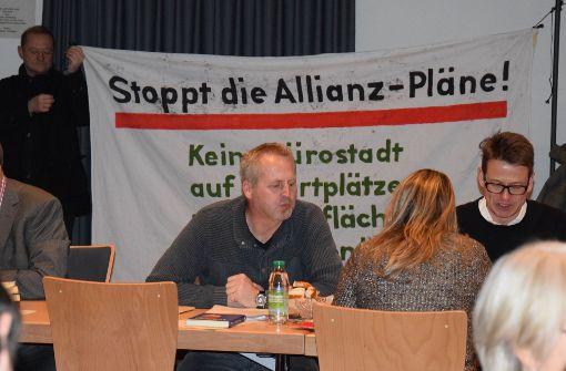 Der Unmut im Stadtbezirk Vaihingen wegen des Allianz-Projektes ist groß, doch die Stuttgarter Stadträte haben jetzt den Weg für den Architektenwettbewerb frei gemacht. Foto: Alexandra Kratz