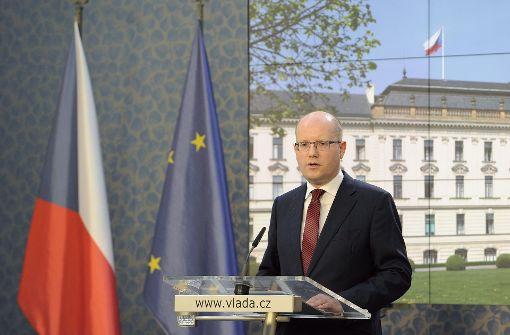 Tschechische Regierung kündigt Rücktritt an