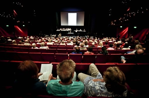 Erörterung zu Stuttgart 21 Mitte Juli Foto: Leif Piechowski