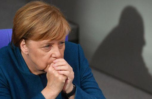 Bundeskanzlerin Angela Merkel zieht die Reißleine