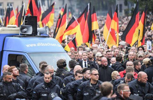 Über 8000 Demonstranten in Chemnitz