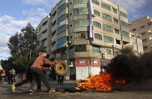 Palästinenser protestieren gegen Trump