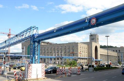 Rohre für das Grundwassermanagement Stuttgarter Hauptbahnhof Foto: dpa