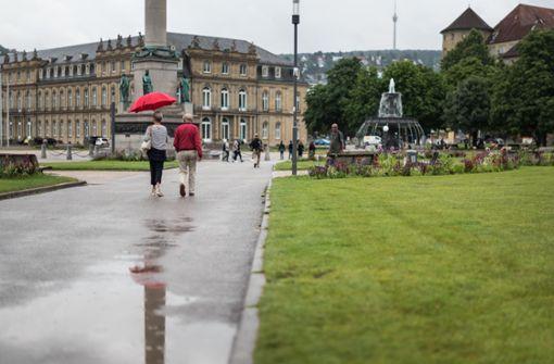 Eine Gewitterzelle streift Stuttgart