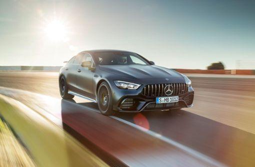 Die neuen viertürigen Mercedes-AMG GT Coupés werden in Sindelfingen gebaut, im Bild ein Mercedes-AMG GT 63 S 4MATIC+ 4-Türer Coupé. Die Bildergalerie zeigt, welche Modelle in Sindelfingen sonst noch vom Band laufen. Foto: Daimler