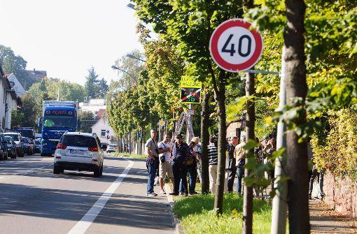 Tempo 40 auf der Heilbronner Straße?