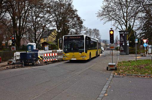 Bushaltestelle am Friedhof wird barrierefrei