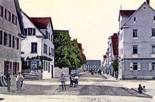 Bis 1957 hieß die Epplestraße  Tübinger Straße. Das Foto ist    vor 1908 entstanden. Foto: z/Archiv Albert Raff