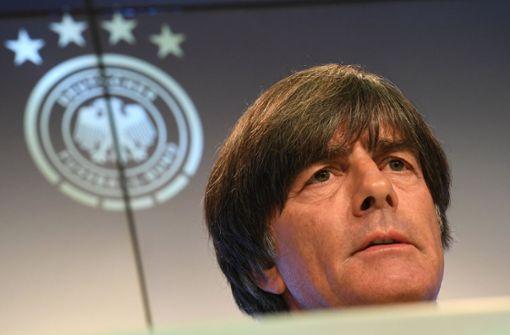 Bundestrainer Joachim Löw bei der Pressekonferenz des DFB in München Foto: dpa