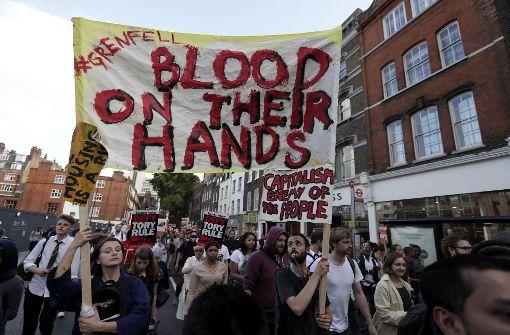 Demonstranten sind wütend auf Regierung