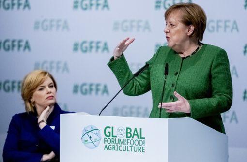 Merkel wirbt für Nachhaltigkeit