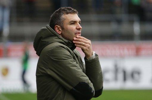 Tomislav Stipic, der Trainer der Stuttgarter Kickers, hofft auf drei Punkte gegen den FC Hansa Rostock. Foto: Pressefoto Baumann