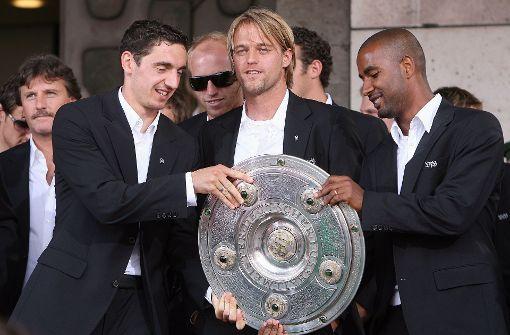 Von links: Roberto Hilbert, Timo Hildebrand und Cacau Foto: baumann