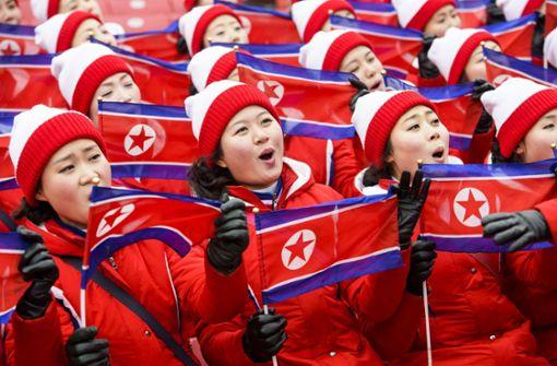 Ungewöhnlicher Support: die Cheerleader aus Nordkorea bei Olympia 2018 in Pyeongchang Foto: KEYSTONE