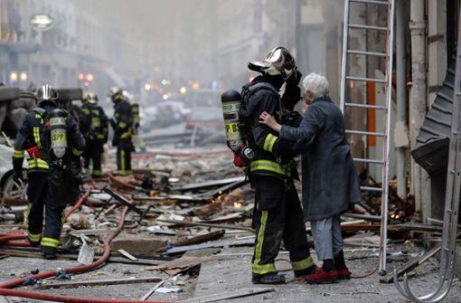 Die Detonation ... Foto: AFP