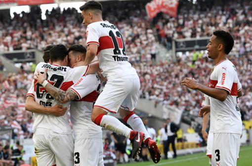 Der Jubel ist groß bereits nach dem 1:0 in der 25. Minute. Hoffenheim war zu diesem Zeitpunkt das stärkere Team. Foto: AFP