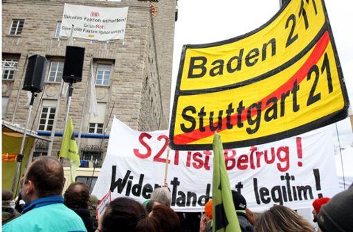 Das Aktionsbündnis fordert die Deutsche Bahn zum Umsteuern beim Großprojekt Stuttgart 21 auf. Foto: dpa