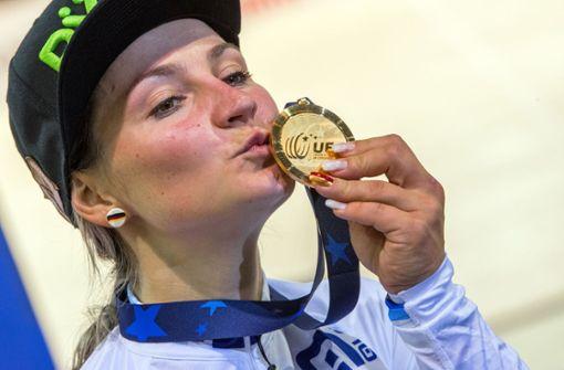 Dem deutschen Bahnradsport-Team wird Vogel fehlen - nicht nur als Ausnahmeathletin und Medaillengarantin, sondern auch als Stimmungskanone, die immer einen fröhlichen Spruch auf den Lippen hatte.  Foto: dpa-Zentralbild