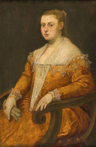 "Jacopo Tintoretto: ""Porträt einer jungen Dame"", um 1553, Öl auf Leinwand, 103 x 79 cm Foto: © The Cultural Heritage Agency of the Netherlands"