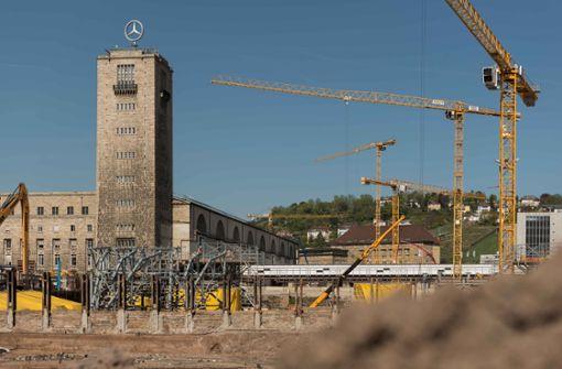 Die S21-Baustelle rund um den Stuttgarter Hauptbahnhof. Foto: Lichtgut/Max Kovalenko