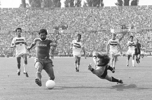 Fünf Deutsche konnten sich bereits den Titel Europas Fußballer des Jahres sichern. Bayern-Bomber bGerd Müller/b (links) war der erste im Jahr 1970. Foto: Pressefoto Baumann