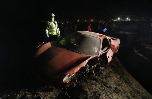 Vidal crasht mit seinem Ferrari