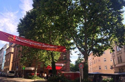 Das Straßenfest im Heusteigviertel erlebt seit Freitag seine 38. Auflage. Foto: Nina Ayerle