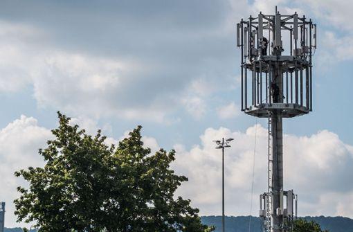 Der geplante Funkturm soll den Mobilfunkstandart LTE ausbauen. Anwohner und Bezirksbeiräte fordern Alternativen. Foto: Lichtgut/Max Kovalenko