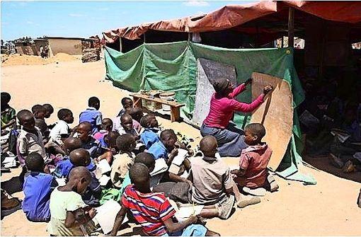 Auf dem Sprungnach Afrika