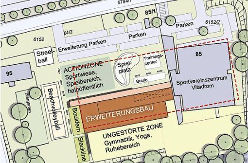 Ein Teil des Masterplans sieht vor, das Vitadrom zu erweitern. Foto: Zoll Architekten Stadtplaner (z)