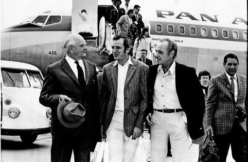 Fritz Höver 1969 mit Walter Erich Schäfer und John Cranko Foto: Hannes Kilian