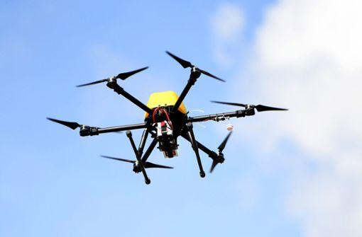 Drohne stört Hubschrauber