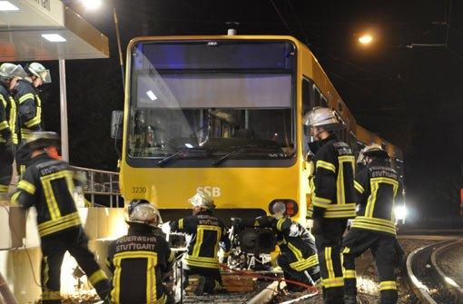 Stadtbahn springt aus den Gleisen
