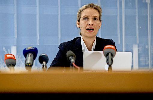 Alice Weidel ist AfD-Spitzenkandidatin für die Bundestagswahl – doch die Position könnte ihr streitig gemacht werden. Foto: dpa