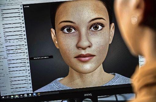 Mit einem Schieberegler kann das Gesicht verändert werden. Foto: Max Kovalenko, Universität Stuttgart