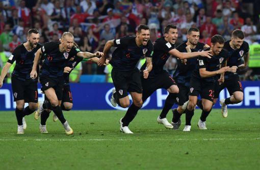 Kroatien durch Sieg im Elfmeterschießen im Halbfinale