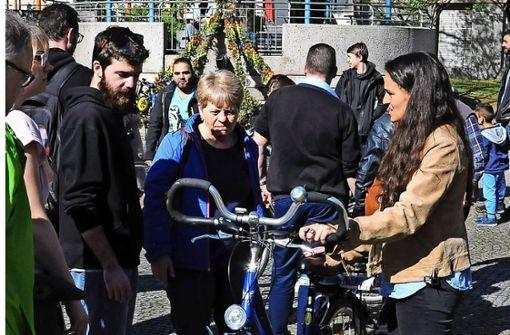 Florierender Fahrradbasar